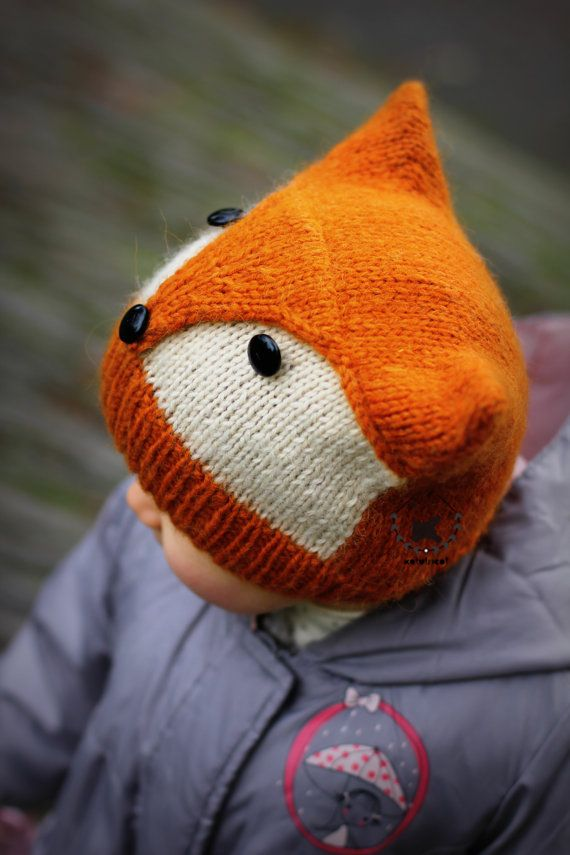 "Photo of Knitting Pattern FOXY & WOLFIE"" (Toddler, Child, Adult sizes) – English and French"