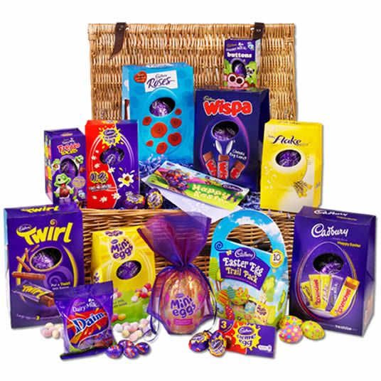 The largest easter egg hamper from cadbury chocolate the cadbury the largest easter egg hamper from cadbury chocolate the cadbury ultimate easter basket packed negle Image collections