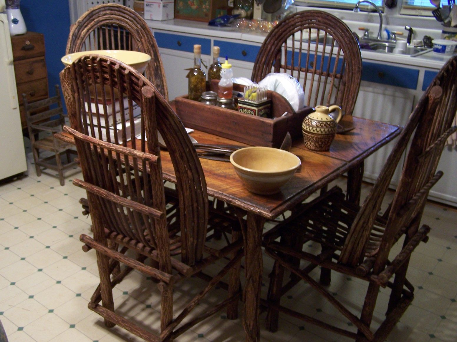 Nice Table U0026 Chairs Made By Famous Twig Furniture Maker In Boone N.C.