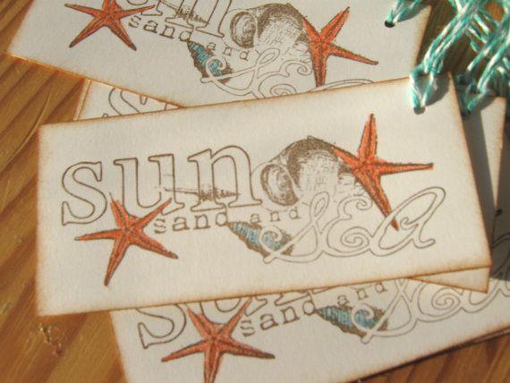 Sun And Sea Beach Seashell Gift Tags Starfish By Charoneldesigns 4 95 Seashell Gift Gift Tags Sea Shells