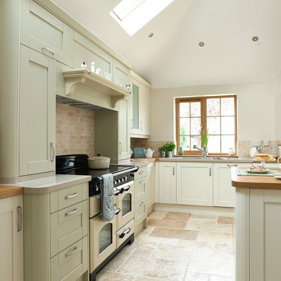 Fine Sage Green Cream Kitchen Home Design Ideas Green Gray Kitchen Cabinets Traditional Kitchen Warmington North Dekorasi Rumah Rumah Dekorasi