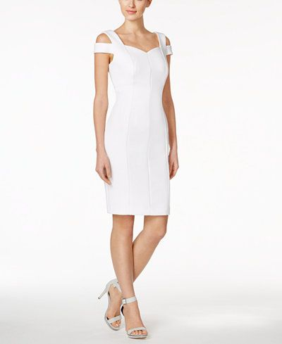 calvin klein wedding dresses calvin klein sweetheart cold shoulder dress blush 2391