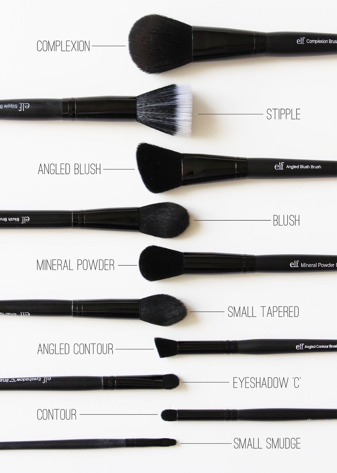 E.L.F. Skin makeup, Best makeup brushes, Makeup brushes