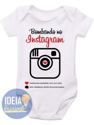 Body Infantil - Instagram Sublimação Camisetas 090995f758b