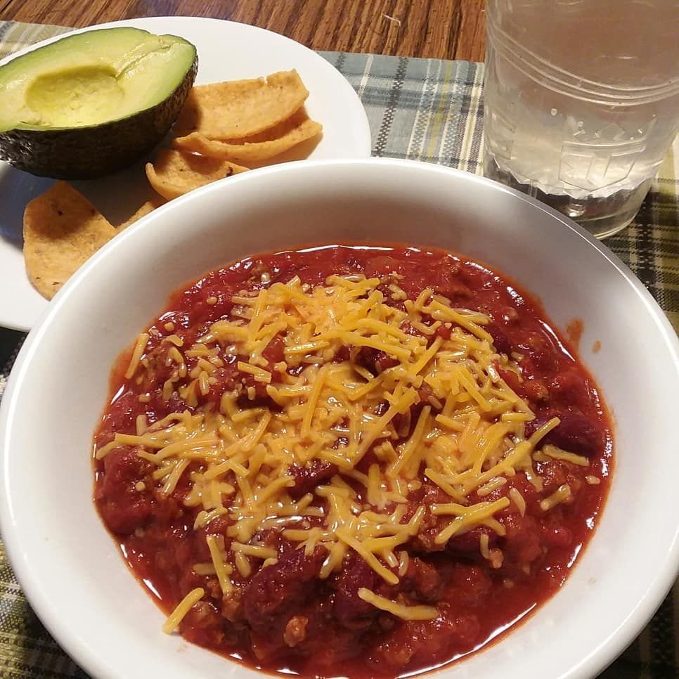 Chili for dinner for a chilly day