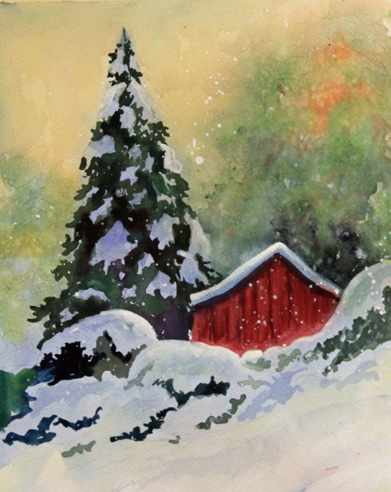 2014 01 01 09 31 20 Christmas Paintings Winter Painting