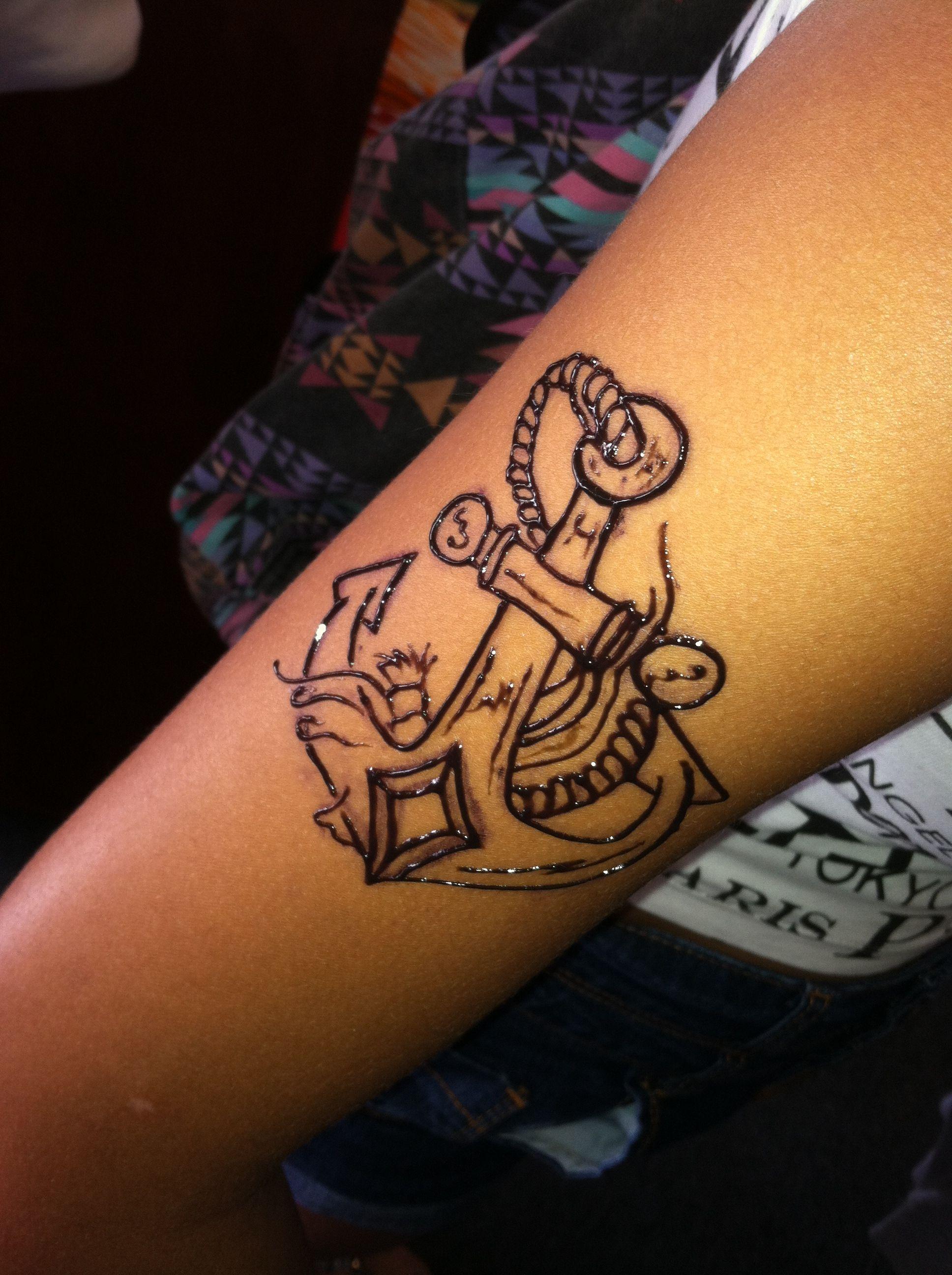 Henna Tattoo Anchor Henna Tattoo Designs Henna Tattoo Tattoos