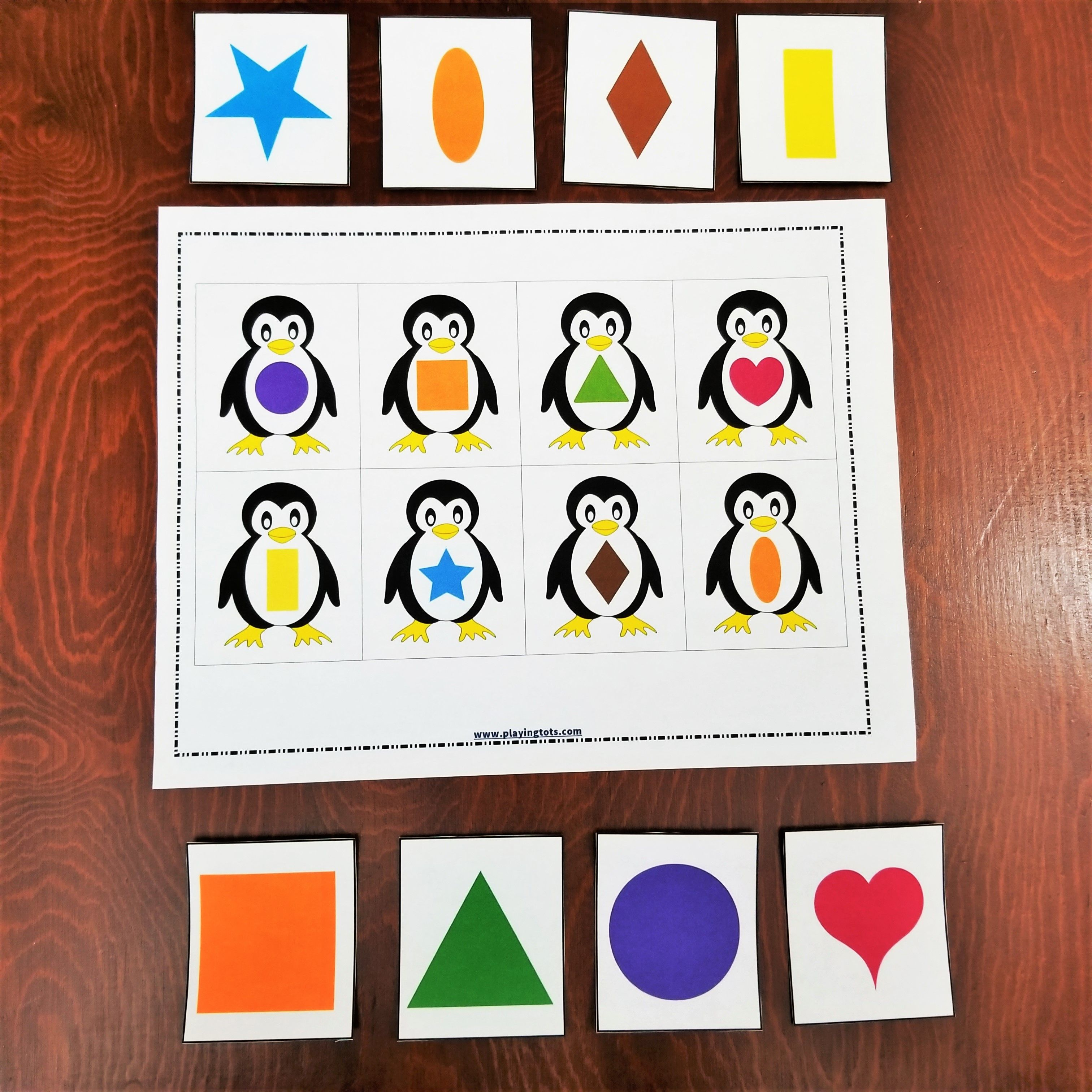 Keywords Matching Activities Shapes Penguin Animals