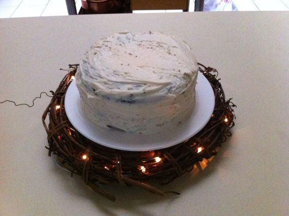 Lighted Wreath Cake Stand perfect for me because I'm having pies and cheesecakes instead of cake!