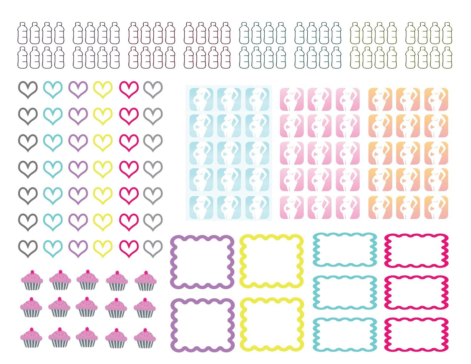 Full Faith ::..: Free Planner Stickers pregnancy countdown ...