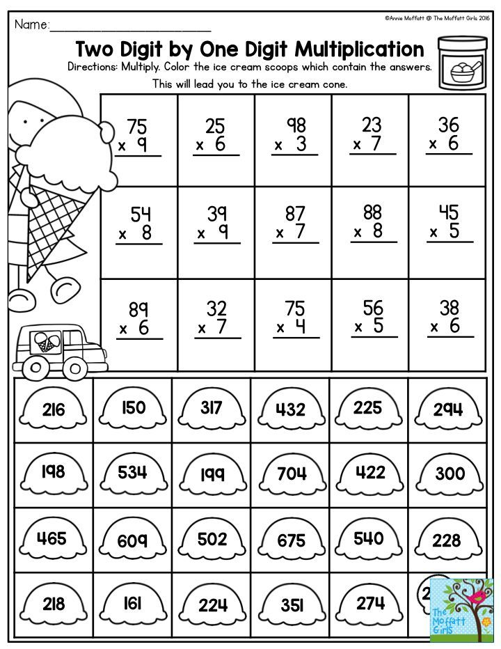 Two Digit by One Digit Multiplication- Once your students have ...
