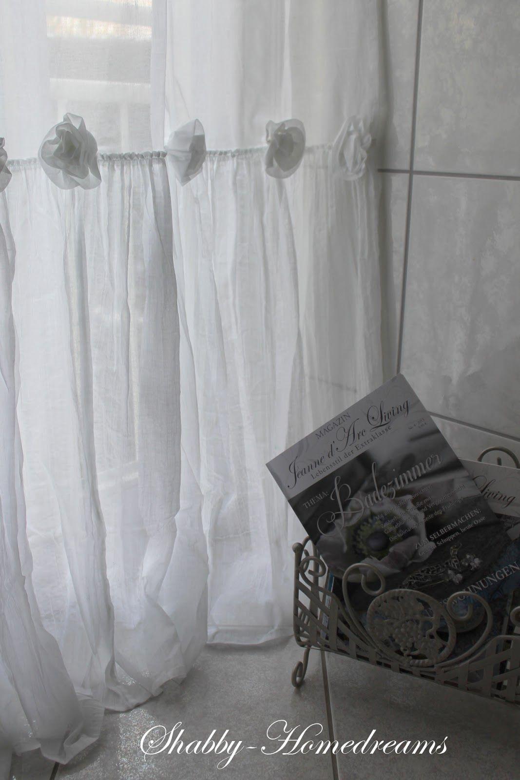 Bathroom Curtains White Chippy Shabby Chic Whitewashed Romantic Cottage French Country Rustic Swedish Decor Ide Gardinen Shabby Chic Badezimmer Shabby