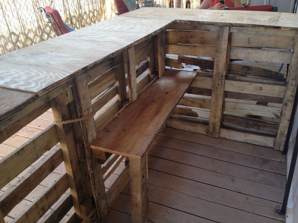 backside of pallet bar pre finish tiki bar pinterest