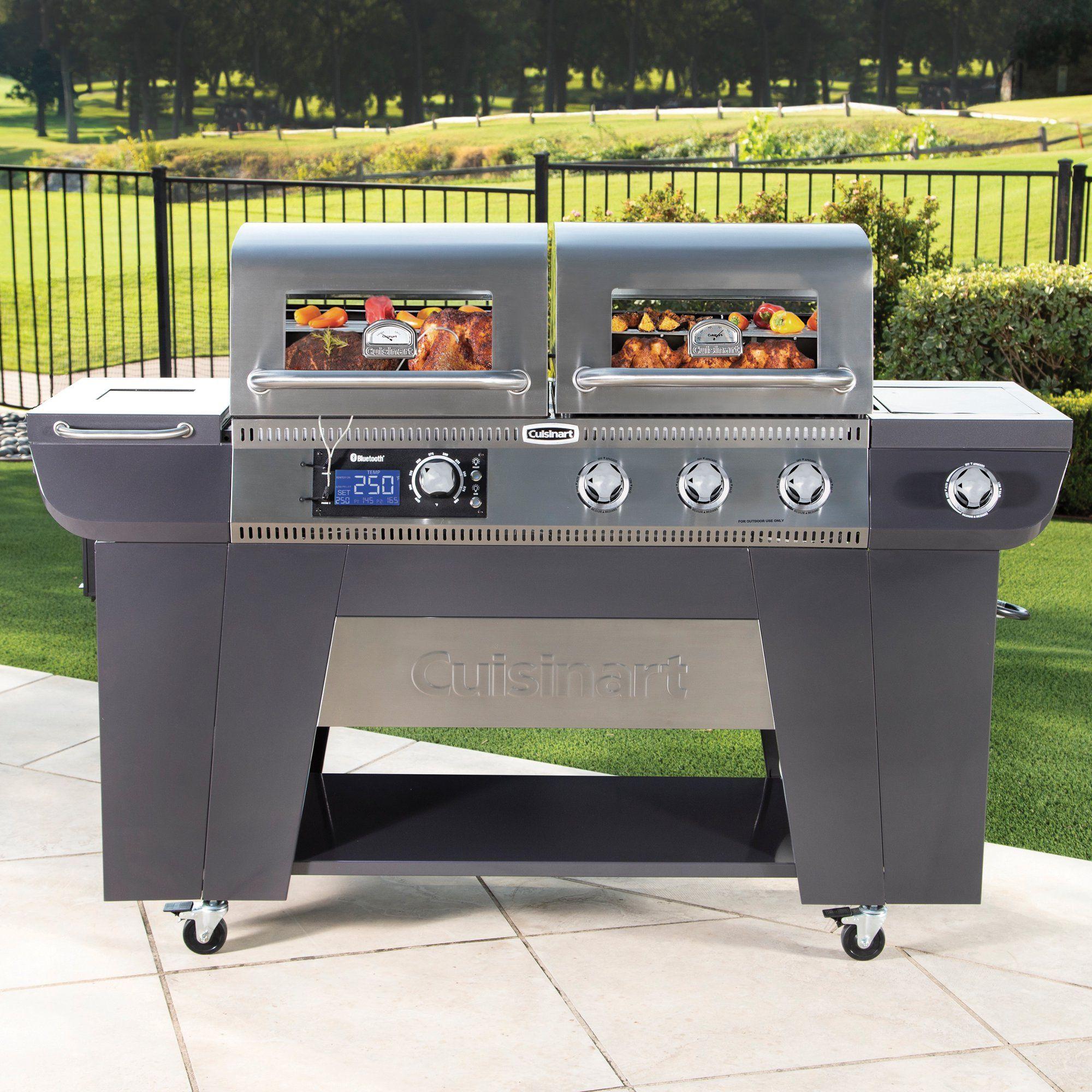 Cuisinart Twin Oaks Dual Function Pellet And Gas Grill Walmart Com Walmart Com In 2020 Simple Outdoor Kitchen Pellet Grill Diy Grill