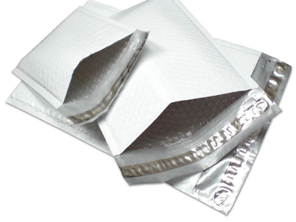 """500 Pcs White Kraft Bubble Mailer 6.5/"""" x 10/"""" #0 Padded Shipping Mailing Pouches"""