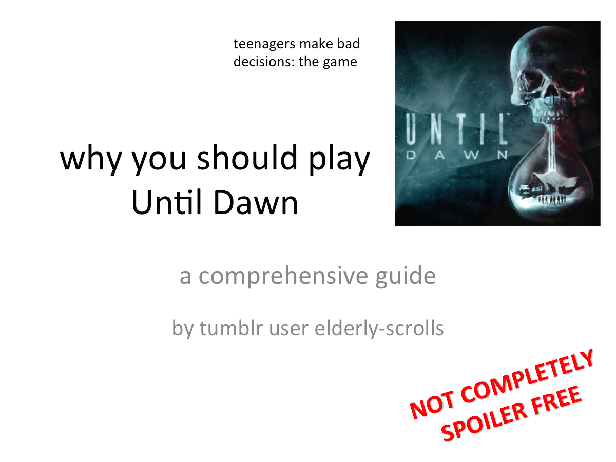 It S Cowmouflage A Masterpiece Of A Game Until Dawn Dark Pictures Horror Video Games