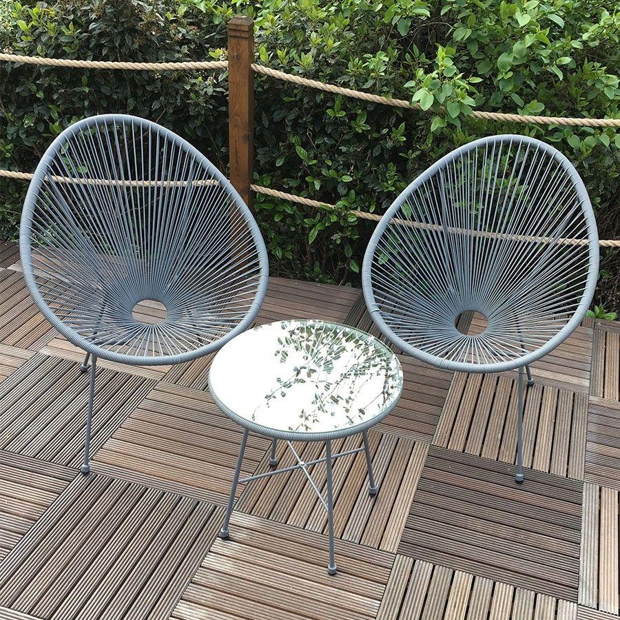 monaco 3 piece wicker patio egg set grey garden pinterest rh za pinterest com