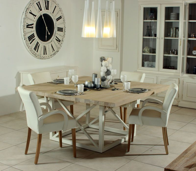 Table provençale chêne flotté meubles peints Pinterest - Renovation Meuble En Chene