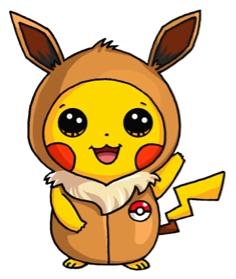 Pikachu In A Eevee Onesie | Kawaii desenhos fofos ...