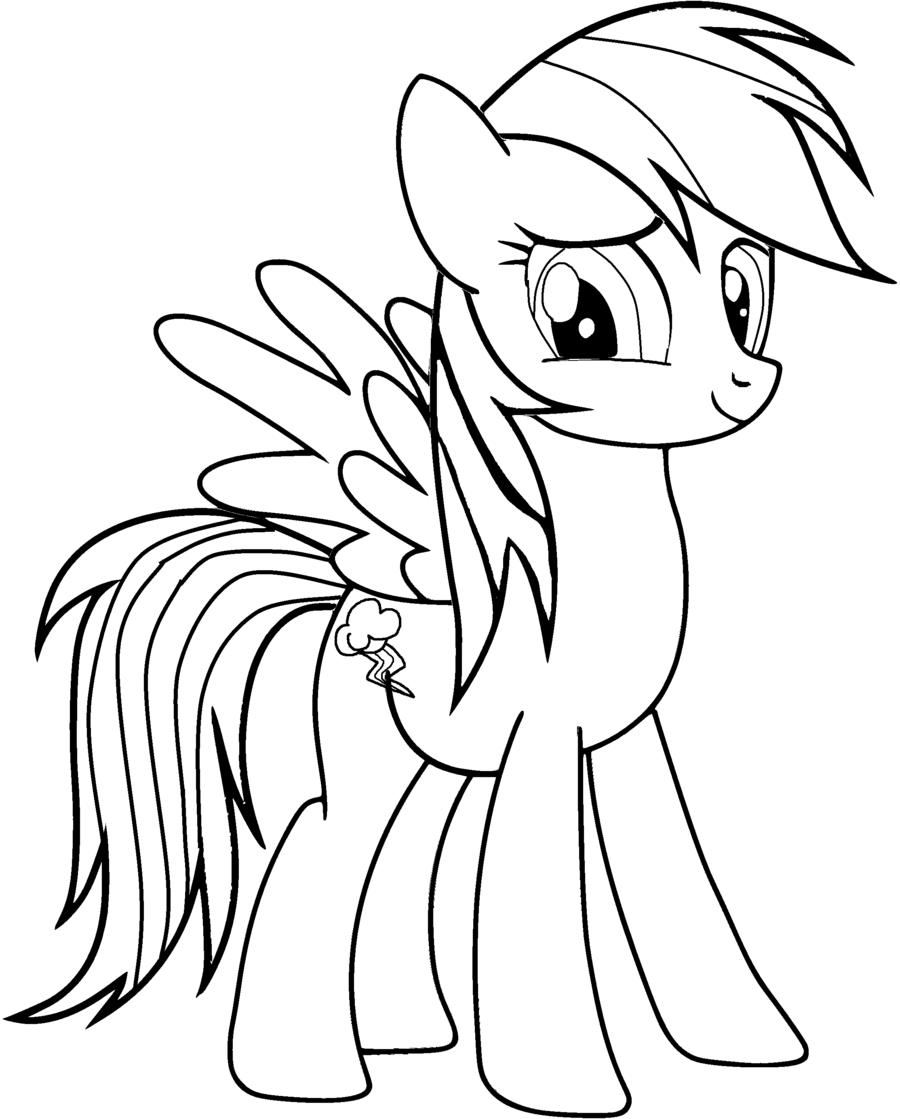 Rainbow Dash Coloring Pages Omalovanky Kresleni