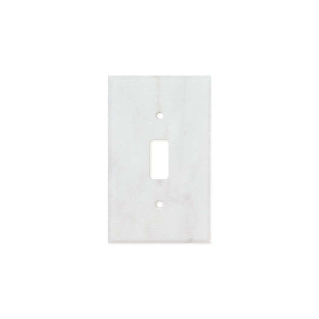 Tilephile Switch Plates Switch Plate Covers Bianco Carrara