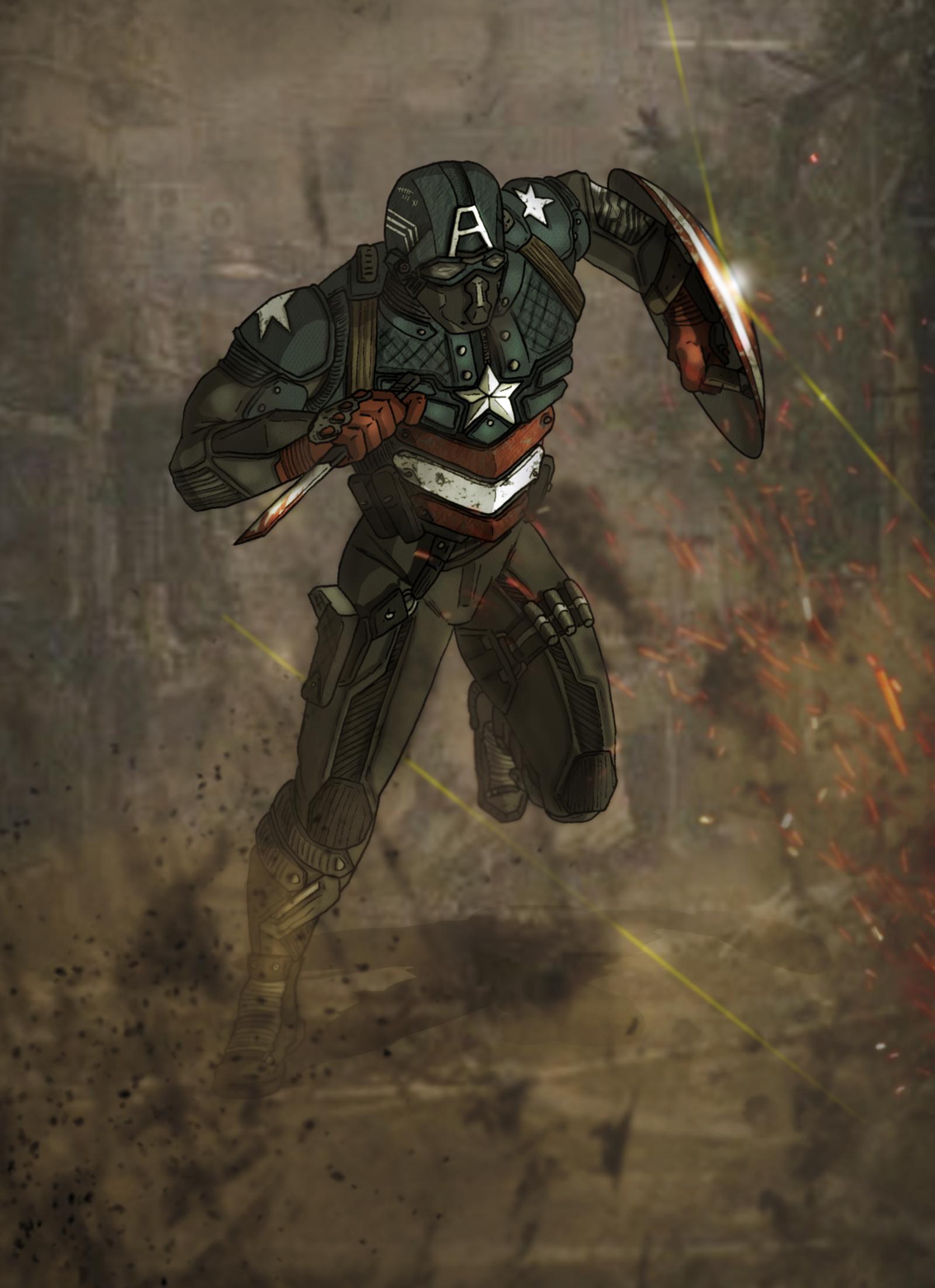 Marvel Cinematic Universe BuckyCap by DarthDestruktor on DeviantArt