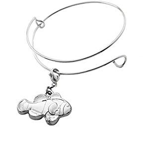 Amazon.com: Michele Benjamin Women's Clownfish Collectable Charm Bracelet Rhodium Plated [Nickel Free]: Jewelry