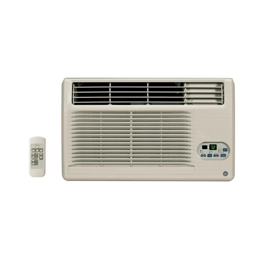 Ge 12 000 11 800 Btu 230 208 Volt Through The Wall Air Conditioner With Heat And Remote Remote Home Depot
