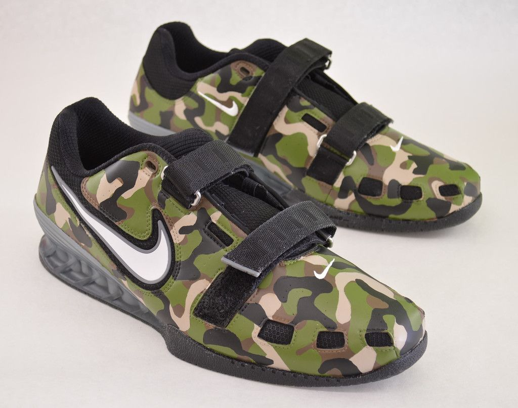 9bb05d7174dc Custom Hand Painted Nike Romaleos - Camo Weightlifting Shoes ...