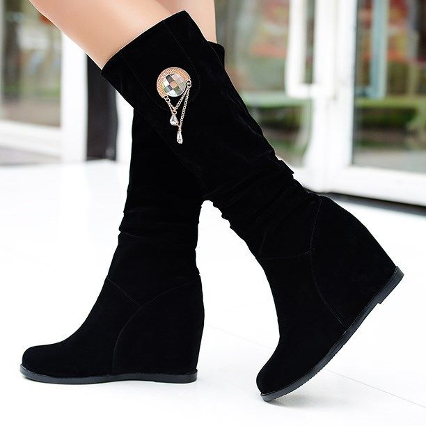 2016 new style women fashion sexy boots sexy girls black winter ...
