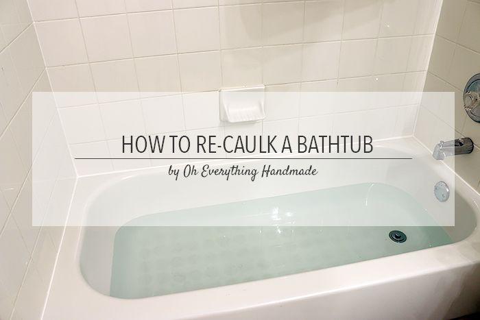 how to re caulk a bathtub tips bathtubs and household. Black Bedroom Furniture Sets. Home Design Ideas