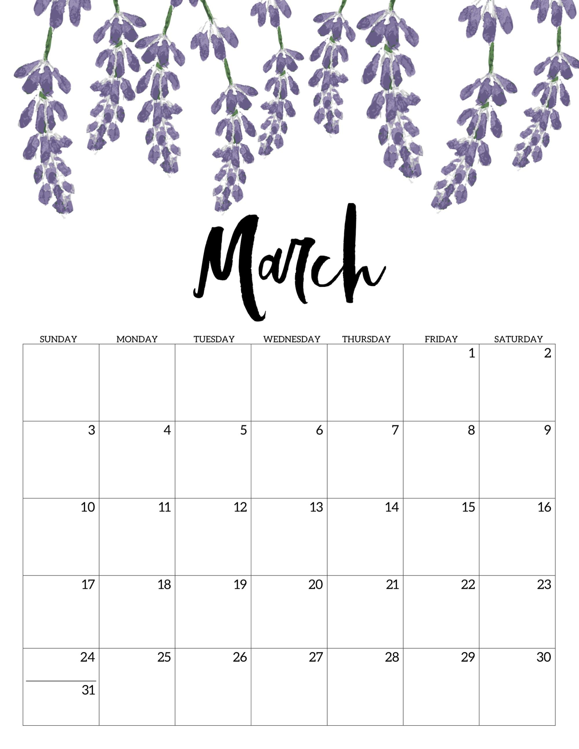 Free Printable Calendar 2019 Floral Study Pinterest Calendar