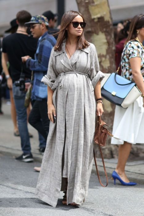 Trending at Fashion Week: Pregnant Street Style Stars