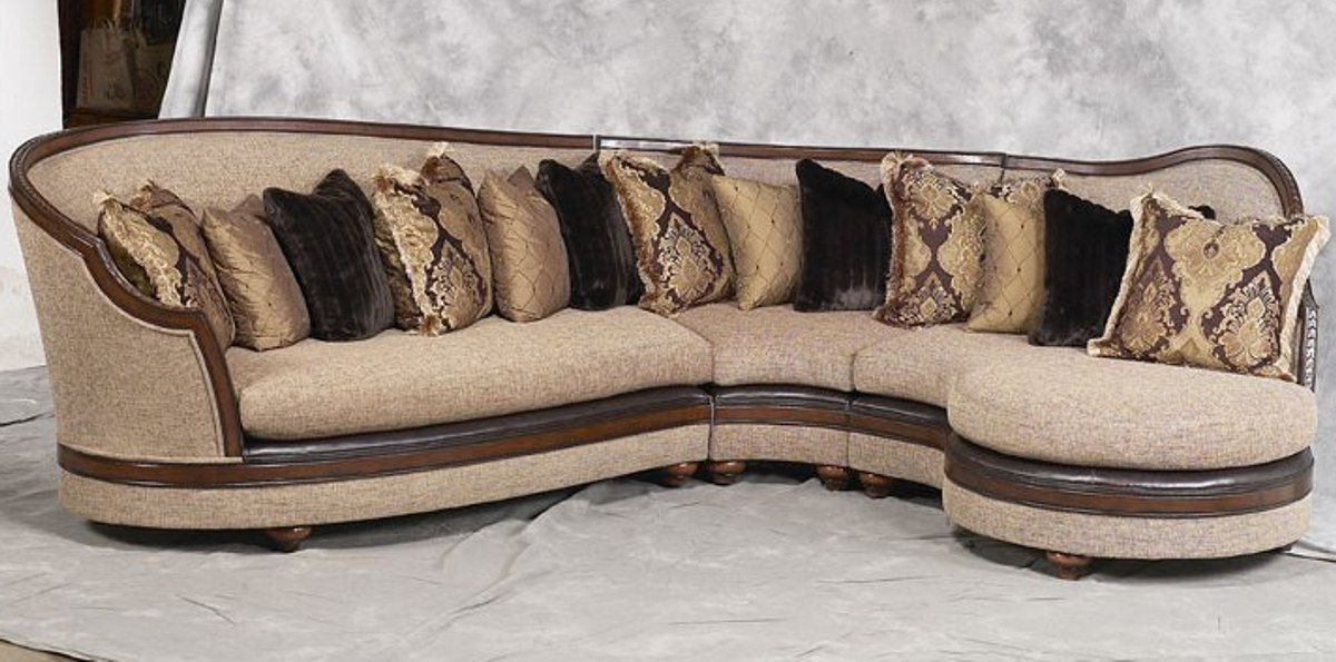 Donatella Luxury Exposed Solid Wood Frame Sectional Sofa Price $6834.00