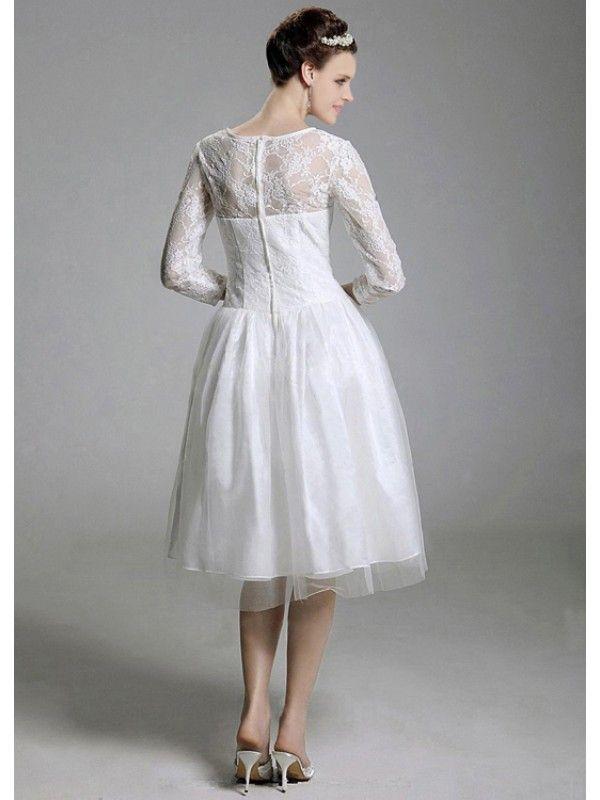 Tea Length Bridesmaid Dresses With Sleeves Photo Album - Weddings Pro