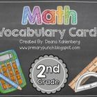 This packet contains 80+ math vocabulary cards that are aligned to the 2nd grade CCSS!  Most cards include pictures, be sure to check out the previ...
