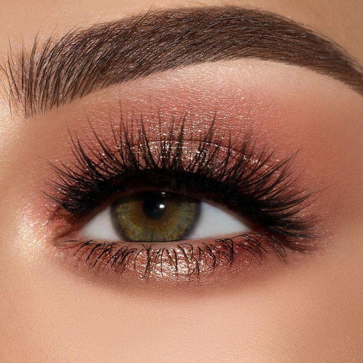 Photo of ROSE GOLD eye make-up look with the PAT McGRATH LABS 'MOTHERSHIP V: Bronze Sedu …