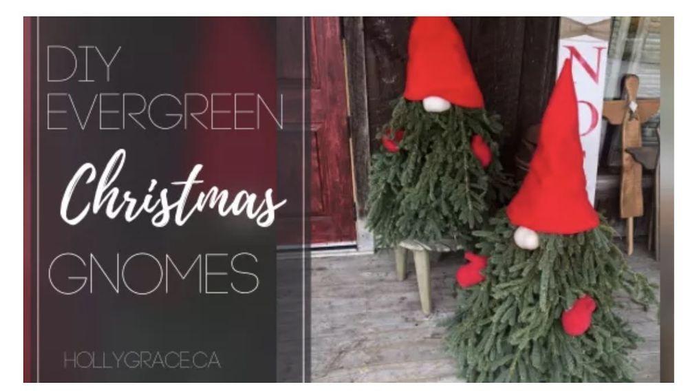 How To Make Diy Evergreen Christmas Gnomes Easy Christmas Diy Christmas Diy Faux Christmas Trees