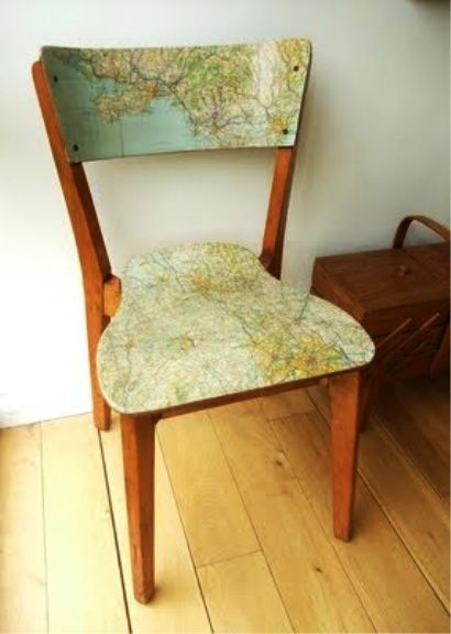 decoupage the bottom of our tiny chair make a tiny british flag pillow for the back!