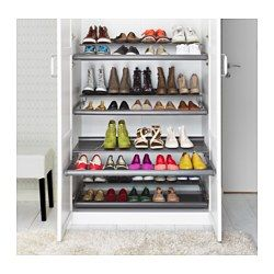 Ikea Komplement Pull Out Shoe Shelf Dark Gray 39 3 8x22 7 8 10 Year Limited Warranty Read About The Terms In Brochure