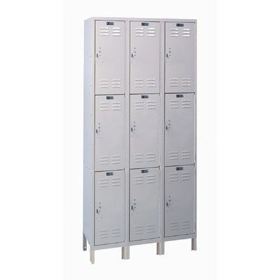 Hallowell Value Max 3 Tier 3 Wide School Locker Size 78 H X 36 W X 12 D Employee Lockers School Lockers Hallowell
