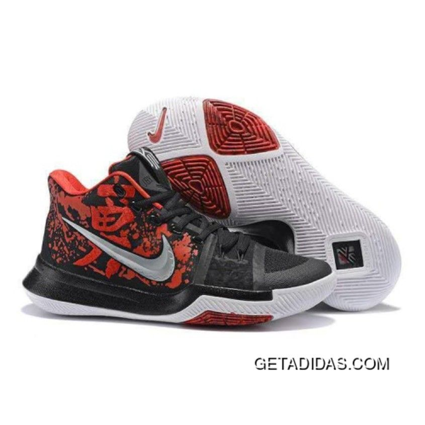 Shop Nike Kyrie 3 Dark Obsidian Red White 852395 900