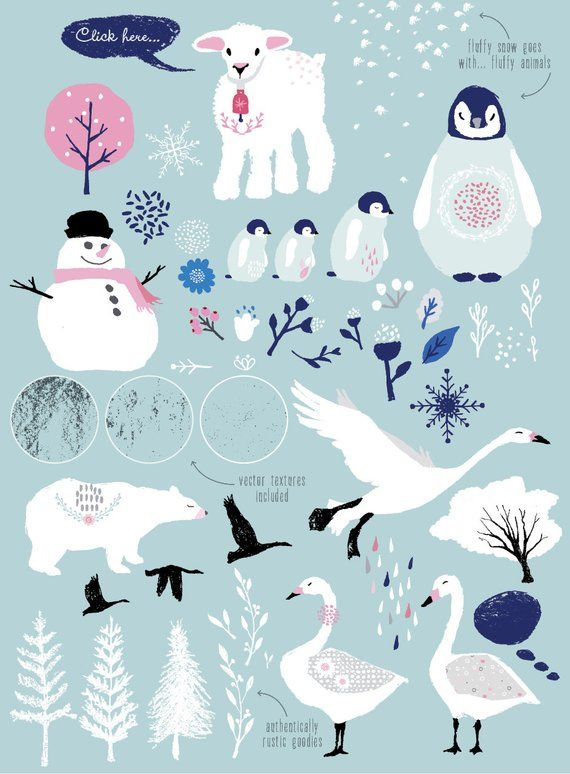Winter Wonderland Png Clipart Whimsical Clip Art Etsy Winter Snow Wallpaper Winter Wonderland Illustration