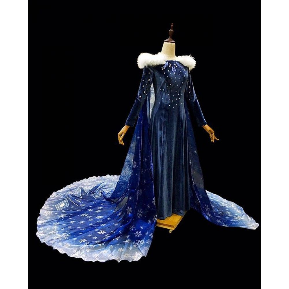 Olaf/'s Frozen Adventure Queen Elsa Cosplay Adult Woman Costume Christmas Dress