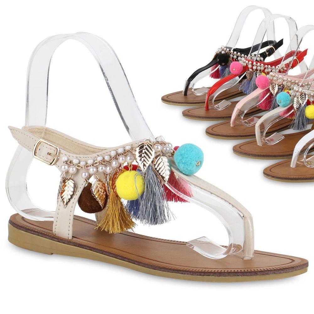 Damen Schuhe Sandalen Leder Klettverschluszlig;36 EUSilber
