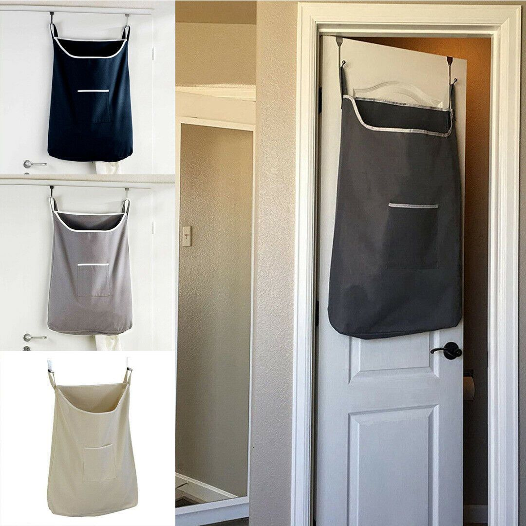 Hanging Laundry Bag Door Behind Washing Clothes Oxford Storage