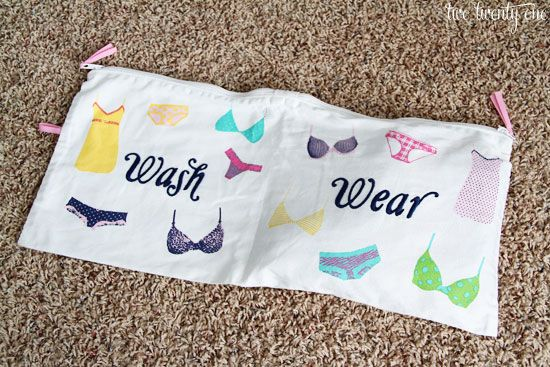 IHeart Organizing: Travel Tips that Pack a lot of Punch! Underwear bag. Must make this!