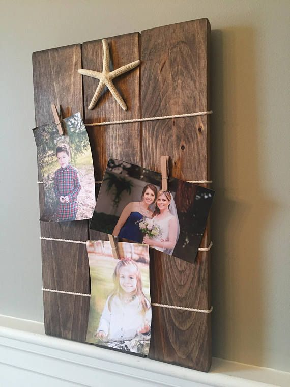 Photo Memo Wall Clip Board Wall Mounted Frame Or Memo Holder Rustic