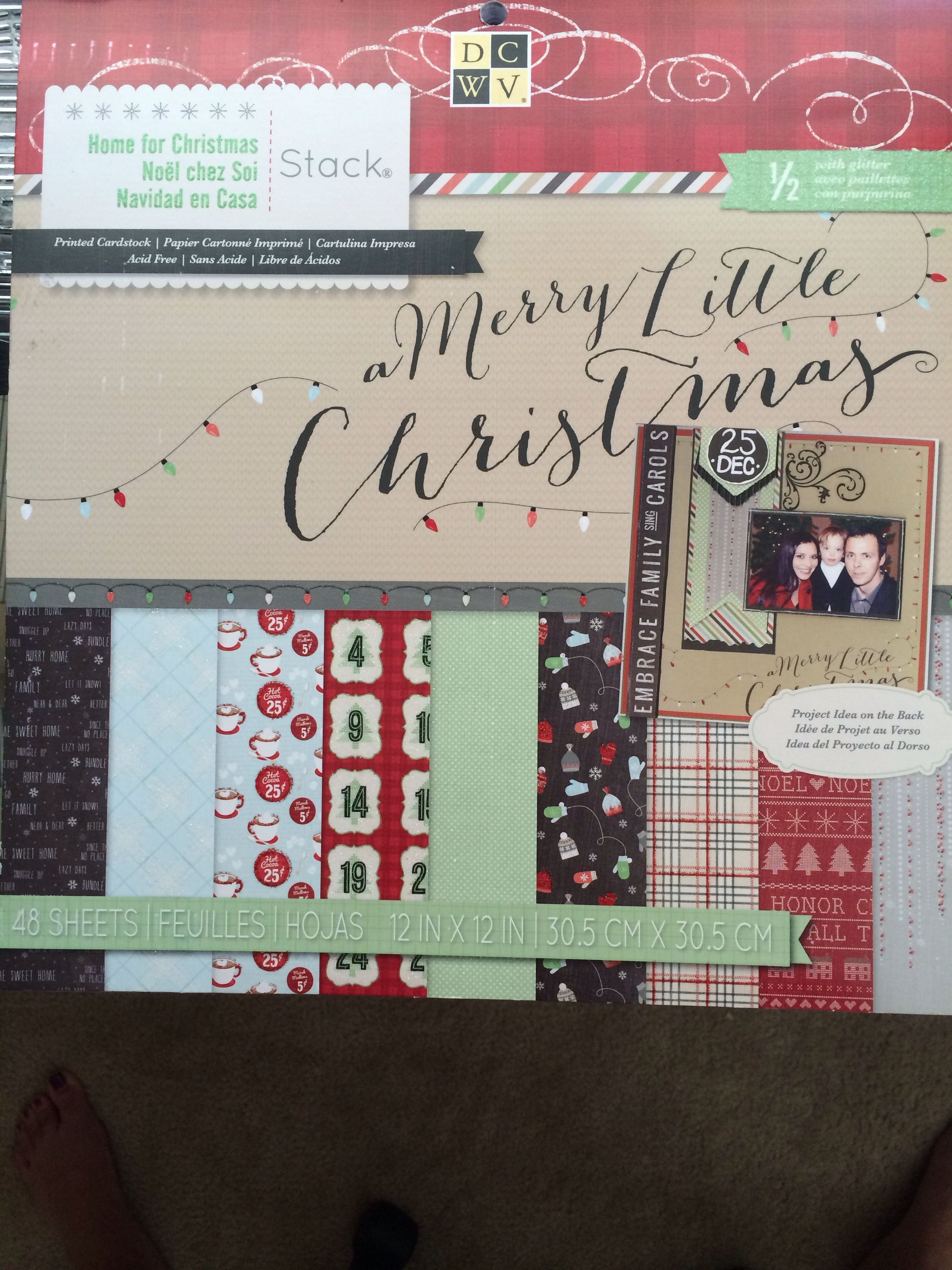 Christmas 12x12 Scrapbook Paper From Michaels Great For Your