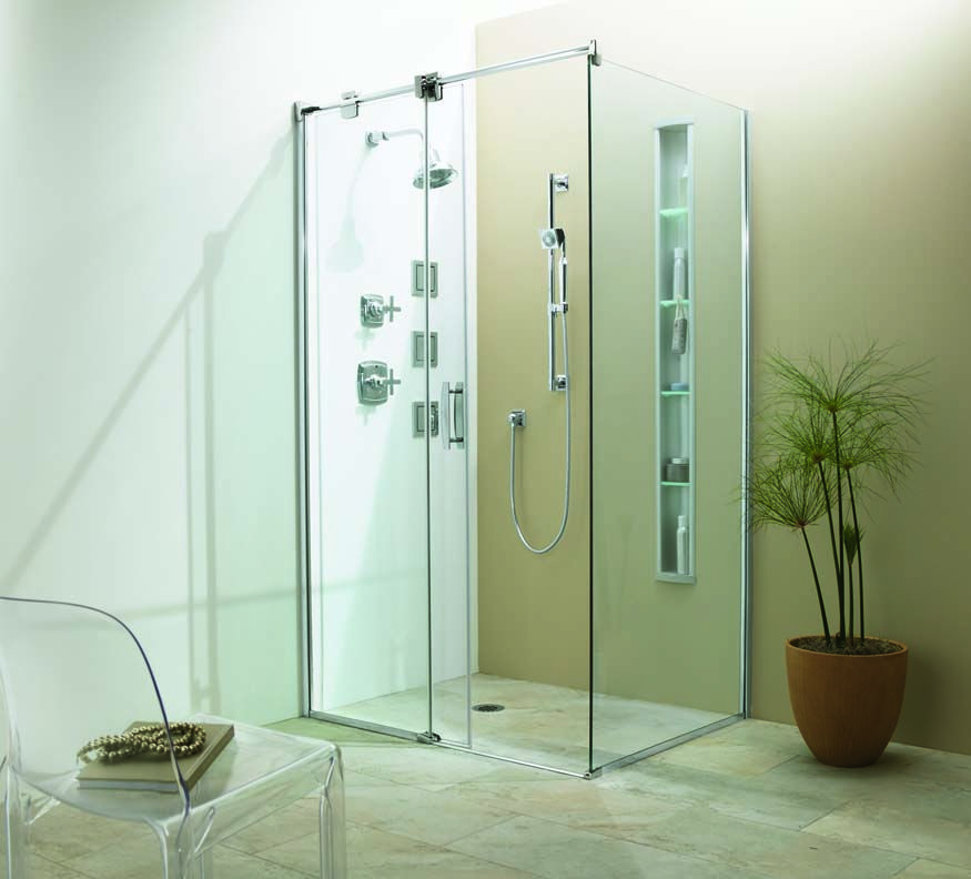 sterling kohler 3 panel shower enclosure kit